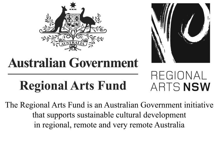 Regional Arts Fund Regional Arts NSW logo and acknowledgement