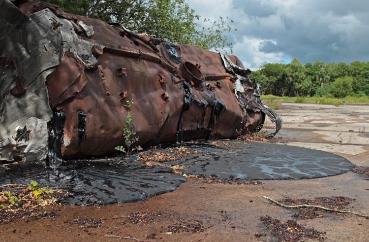 Bitumen tanker, Whixall Moss UK