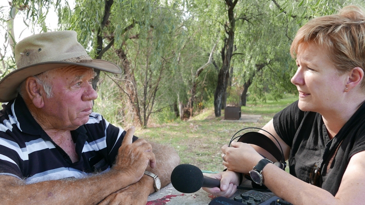 Interviewing Les Trindall at Coonamble in 2017