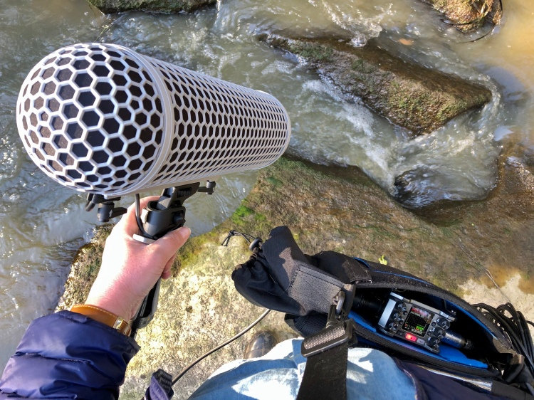 Recording sound on the Lachlan River