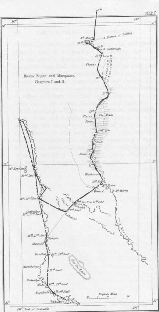 Sir Thomas Mitchell's expedition along the Macquarie River